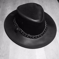 Cowboy Hat, Black, Leather, Medium