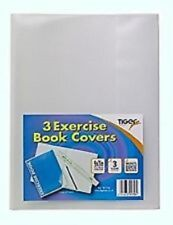 Tiger Exercise Book Covers Clear Plastic Cover for School College Notebook Care (240 x 183mm)