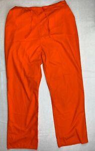 Natural Uniforms Natural Comfort Unisex XL Scrub Pants Orange Drawstring Cargo