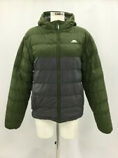 Trespass Green & Black Quilted Hooded Puffer Style Winter Coat Size S 303631