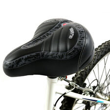 Unisex Big Bum Bike Bicycle Cycling Sprung Saddle Soft Wide Seat Comfortable Pad