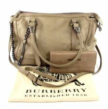 Burberry Handbag & Matching Wallet Chain Detail Cross Body Hard to Find Color