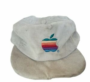 Apple Computers vtg snapback hat cap employee corduroy California Los Angeles CA
