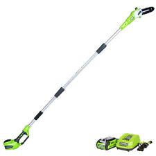 "Greenworks 40V G-MAX Cordless Li-Ion 8"" Pole Saw Kit 20672 New"