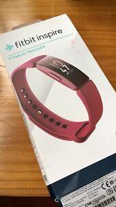 Fitbit Inspire Fitness Activity Tracker, One Size - Sangria -Unused present