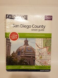 2007 Thmoas Guide San Deigo Country Street Map - Sealed