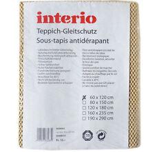 interio Teppichgleitschutz ca. 60x120 cm Latexbeschichteter Gitterbelag Waschbar
