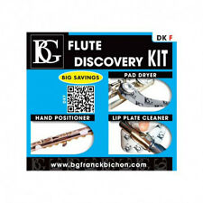 BG DKF Flute Discovery Kit - Pad Dryer, Lip Plate Cleaner, Hand Positioner