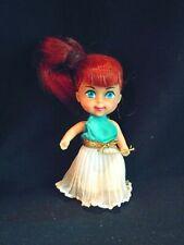 "Vintage 1965 Mattel Plastic Rubber Doll Redhead Girl Toddler 3.5"" Tall Japan"