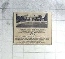 1927 Campion's, Near Harlow Essex And 25 Acres For Sale