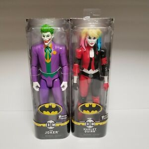 """Harley Quinn and Joker 12"""" Action Figures DC Spin Master Series"""