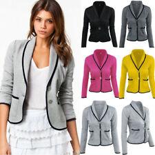 Señoras mujer OL Trabajo Manga Larga Ajustada Casual Blazer Traje Chaqueta Abrigo Prendas de abrigo