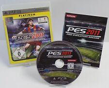 Ps3 PLAYSTATION 3-PES 2011 PRO EVOLUTION SOCCER + istruzioni + OVP