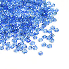 50g Blue Silver Lined Seed Beads Glass 2mm Size 11/0 J04190xa