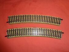 Rare Marklin Model  HO OO 3800 3900 1/1 3 rail Train Track Curve x 2  215mm