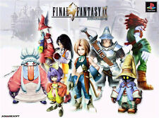 "006 Final Fantasy FF9 Classic Characters Wall Art Print Game 17""x13"" Poster"