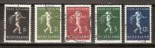 NVPH Netherlands Nederland 327 328 329 330 331 used 1939 kinderzegels Pays Bas
