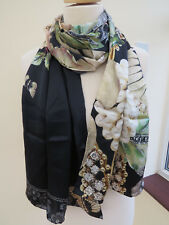 NEW!!100% Silk Ted Baker Gem Gardens Silk Long Scarf - STUNNING!!