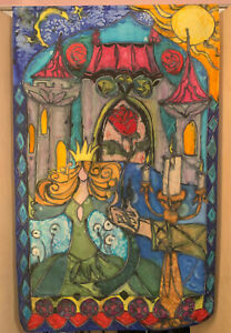 Walt Disney's Beauty & the Beast Inspired Original Silk Artwork--Enchanted Rose