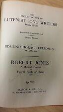 Jones: Fourth Book Of Ayres: Music Score (H3)