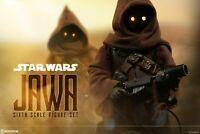 SIDESHOW COLLECTIBLES STAR WARS DISNEY HOT TOYS JAWA'S 1/6 SCALE FIGURE SET NIB