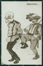 Militari Bersaglieri Propaganda WWI Kaiser Norfini Foto cartolina QT5578