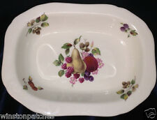 "ROYAL WORCESTER PALISSY SPODE PAL16 RELISH DISH 9 3/8"" FRUIT & FLOWERS ON CREAM"