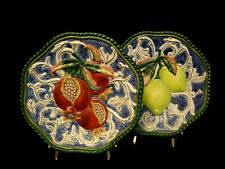 "Classics / Fruit by Fitz & Floyd Decorative Plate 9 1/8"" Set / 2"