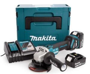 Makita DGA513RTJ smerigliatrice angolare a 2 batteria 18v 5ah regolazione giri