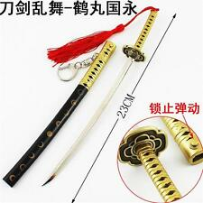 23cm New Style Touken Ranbu Online Tsurumaru Kuninaga Weapon Model Keychain Gift