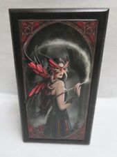 "Anne Stokes Collection Art Tile Wooden Box ""Spellbound"" Ack for Nemesis Now New"