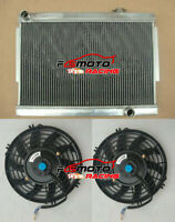 3 ROW Aluminum Radiator & FANS for Holden Torana LJ LC LH LX V8 with chev engine