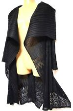 plus sz M / 18 - 20 TS TAKING SHAPE Sizzle Duster funky stretch black jacket NWT