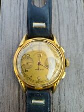 Ancienne Montre Chronographe Suisse 17 Rubis RG Swiss Made vintage