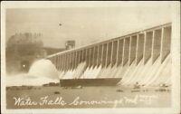 Conowingo MD Dam Waterfalls c1920s-30s Real Photo Postcard
