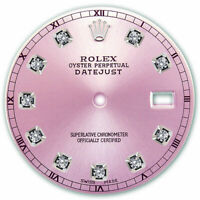 REFINED MENS SS DATEJUST PINK DIAMOND DIAL RT FOR ROLEX-36