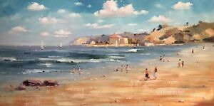 Bondi Beach,Original Oil Painting by N. Knox, 122 x 61 cm
