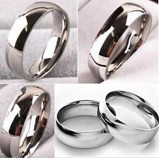 100pcs Quality Comfort-fit 6mm Band Stainless Steel Wedding Rings Wholesale lots