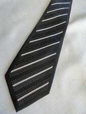 Stacy Adams Bold Black White Striped Signature Gold Necktie