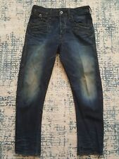 G STAR Mens Designer Jeans Blue 32x33 Davin 3D Loose Tapered Adjustable Waist