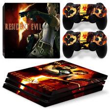 Resident Evil PS4 Pro protector de la piel pegatinas consola y 2 reguladores - 0825