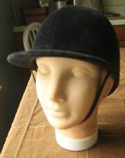 English Riding Helmet Black Velvet Clip-Ity Clop Brecksville 6 5/8