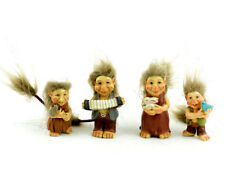 Miniature Dollhouse FAIRY GARDEN - Standing Trolls - Set of 4 - Accessories