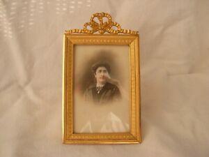 ANTIQUE FRENCH GILT BRONZE PHOTO FRAME,LOUIS XVI STYLE LATE 19th CENTURY