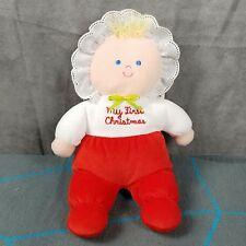 Eden My First Christmas Baby Doll Stuffed Plush 10""