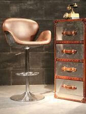 Design Barhocker Dean VC Leder Alu Hocker Drehsessel Ledersessel Vintage Chrom