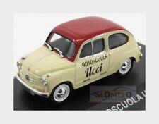Fiat 600 Autoscuola Ucci 1955 Beige Bordeaux Edicola 1:43 VPDC000