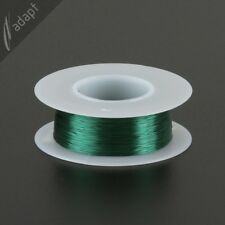 Magnet Wire, Enameled Copper, Green, 32 AWG (gauge), HPN, 155C, 1/8 lb, 613 ft