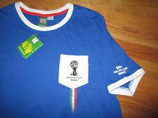 ITALIA FIFA WORLD CUP Brazil No. 10 Soccer (LG) V-Neck Jersey w/ Tags