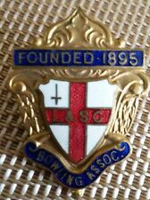 Founded 1895 L & SC Bowling Association Enamelled Pin Badge